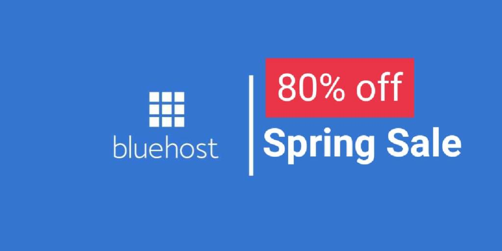Bluehost spring sale 2021